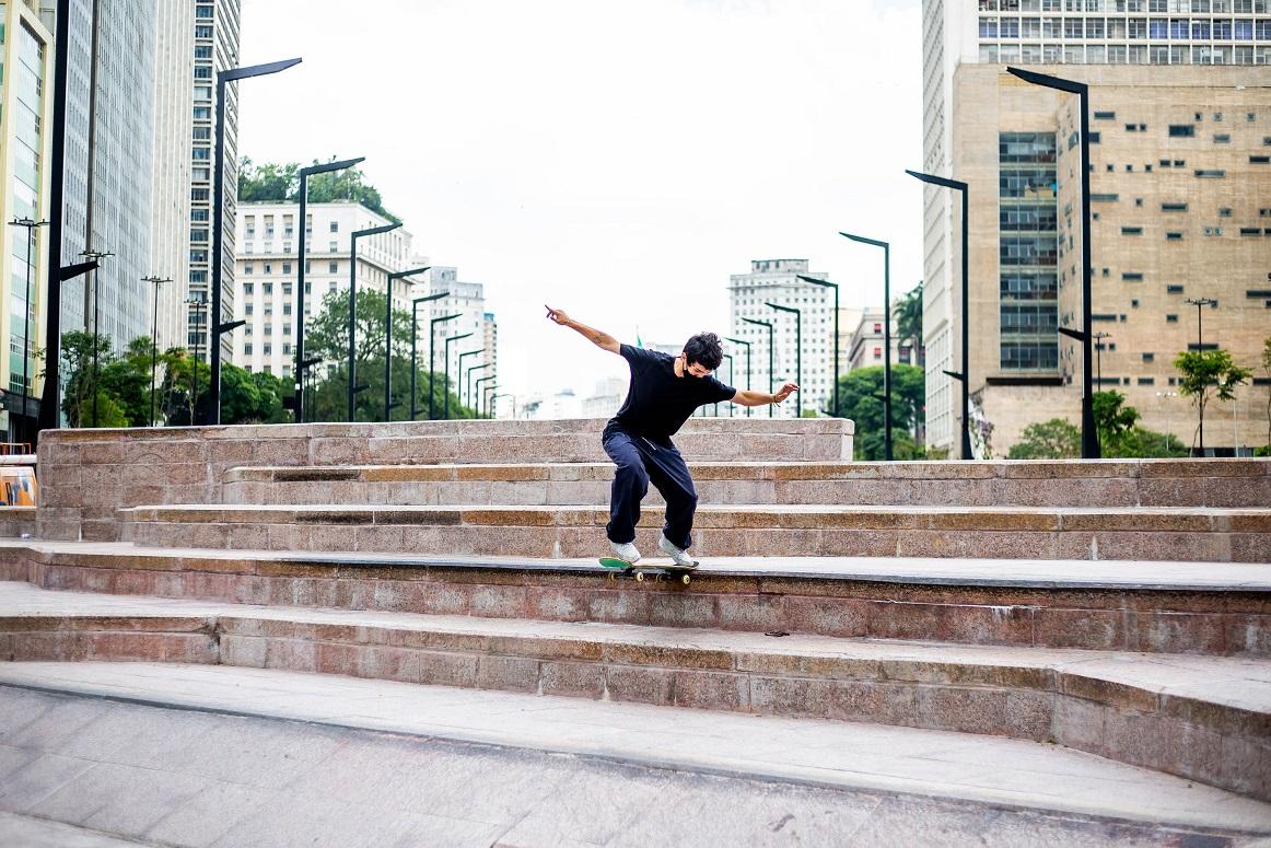 Nova pista de skate no Vale do Anhangabaú. Foto: Edson Lopes Jr./ Secom.